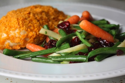 Cheese It Chicken with Cranberry Green Beans 1