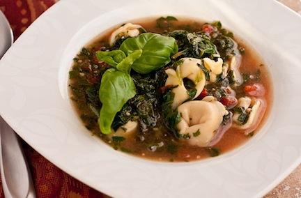 Spinach Tortelinni Soup