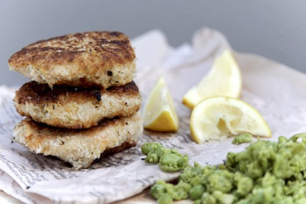 Sweet Potato Cakes with Peas 1