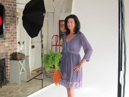 Laurie behind the scenes at a recent New York Times photo shoot