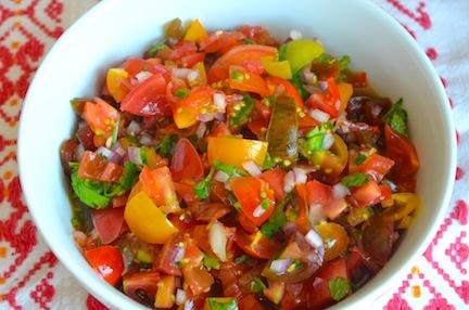 Heirloom Tomato Pico De Gallo Recipe — Dishmaps