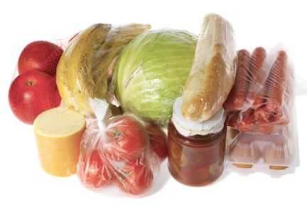 purchase wrapped raw food isolated
